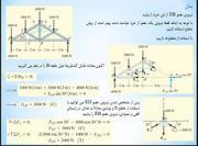 مثالی از حل خرپا به روش مقطع-فارسی-استاتیک
