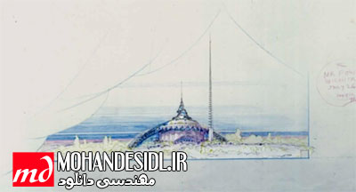 انیمیشن سالن اپرای بغداد - فرانک لوید رایت