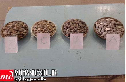 بررسی دوام و مقاومت سایشی سنگ دانه های چهار شهر شمالی در بتن های آسفالتی و سایر بتن های در معرض سایش