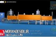 انیمیشن فرآیند تولید قطعه فلزی به روش قالب تزریق فلز