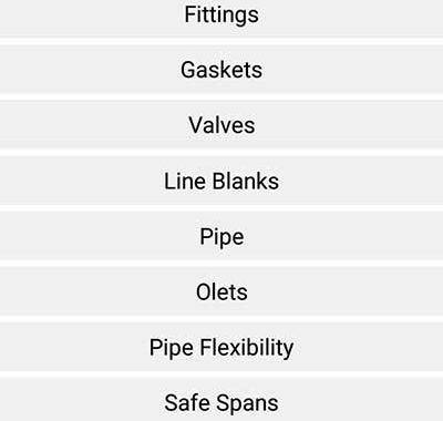نرم افزار اندروید محاسبه جزئیات لوله و اتصالات - pipedata