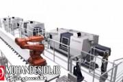 ویدیو تولید خودکار کوپلینگ توسط خط تمام روباتیک و منعطف