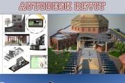 مجموعه طرح های خارجی و داخلی کارشده با رویت Autodesk Revit